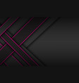 black and pink overlapped stripes dark background vector image vector image