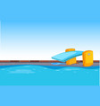 blue swimming pool background vector image
