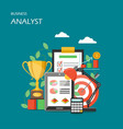 business analyst flat style design vector image vector image