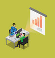 business isometric presentation vector image vector image