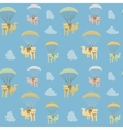 cartoon cat seamless pattern vector image vector image