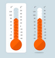 cartoon red thermometer vector image vector image