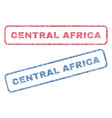 Central africa textile stamps vector image