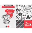 Christmas fashion design set vector image