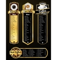 Coffee menu templates vector image vector image