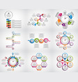 collection infographics design elements vector image