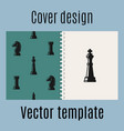 cover design with chess pattern vector image vector image