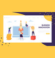 creative business innovation startup landing page vector image vector image
