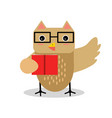 cute cartoon owl bird character in geometric shape vector image vector image
