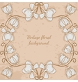 Decorative frame with flower vintage style vector image vector image