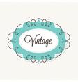 Decorative Vintage Frame vector image vector image