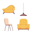 design of furniture and apartment logo set vector image
