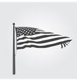 developing wind patriotic american flag vector image