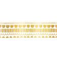 faux metallic gold foil seamless horizontal vector image