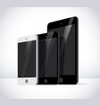 flat smartphone and tablet isolated cartoon vector image vector image