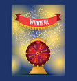 fortune wheel spin game casino roulette vector image