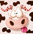 funny cute crazy monster characters cow vector image vector image