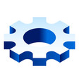 gear cog icon isometric style vector image