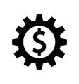 gear with dollar sign inside icon icon simple vector image