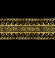 gold glitter shiny greek seamless border pattern vector image