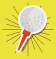 golf ball on tee sport vector image vector image