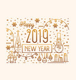 happy new 2019 year horizontal banner greeting vector image vector image
