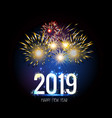 happy new year 2019 firework vector image