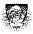 ice hockey helmet shield vector image vector image