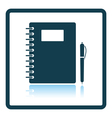 Icon of Exercise book vector image vector image