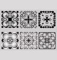 image set ornamental geometric design elements vector image vector image