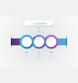infographic 3d circle label template design vector image vector image