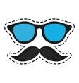 Isolated hipster style design vector image