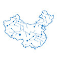isolated map of china vector image vector image
