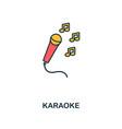 karaoke icon creative 2 colors design fromkaraoke vector image