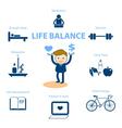 life balance vector image vector image