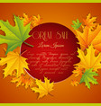 light autumn seasonal sale template vector image