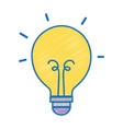 light bulb energy object icon vector image