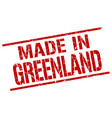 made in greenland stamp vector image vector image