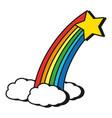 magic rainbow cartoon vector image vector image