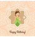 Princess with lights on decorative background vector image vector image