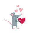 rat male in love vector image vector image
