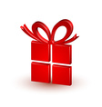 Red gift vector image vector image