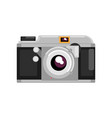 retro photo camera on a white vector image vector image