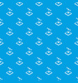 rocket d printing pattern seamless blue vector image vector image
