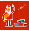Santa and Presents vector image