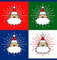 santa claus head cartoon vector image vector image