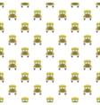 School bus pattern cartoon style vector image vector image