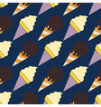 Seamless background with ice cream