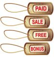 set of gold tags for best sales vector image vector image