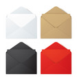 set of realistic envelope mockups vector image